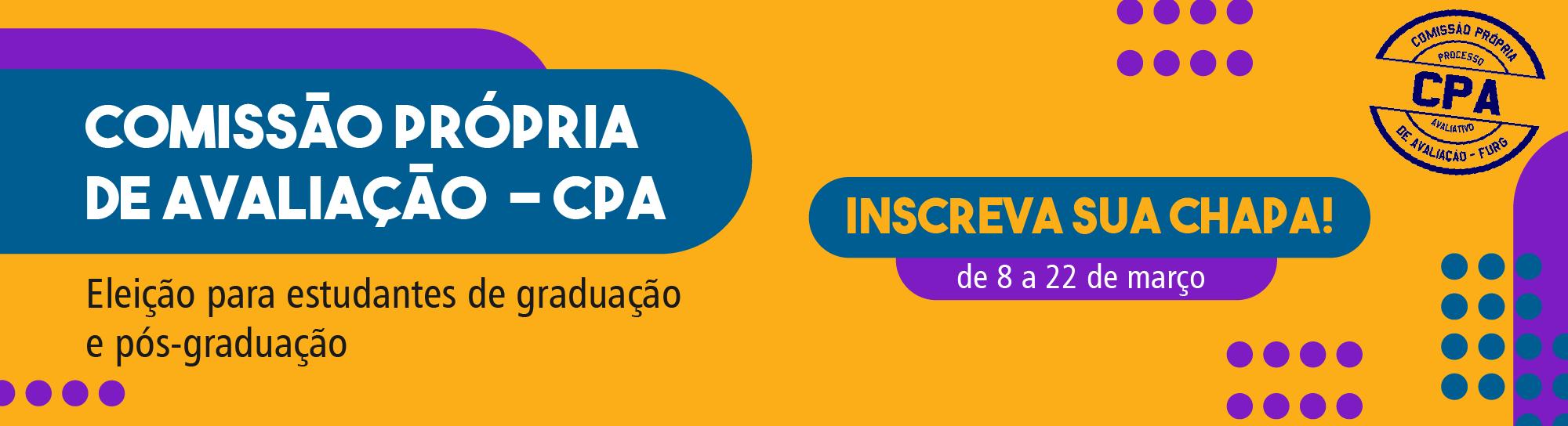 Inscrições CPA - Discentes